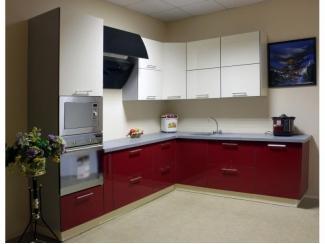 Красно-белая кухня Флорида - Мебельная фабрика «Статус»