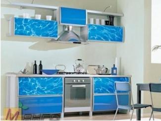 Прямая кухня Аква с фотопечатью - Мебельная фабрика «Манго»