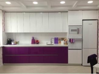 Прямая глянцевая кухня - Мебельная фабрика «Интерьер»