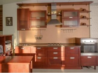 Кухня из массива дуба с филенкой шпон - Мебельная фабрика «Леспром»