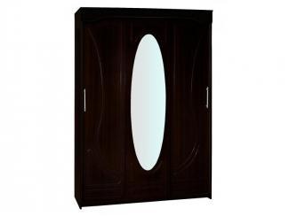Большой шкаф с овальным зеркалом  - Мебельная фабрика «Брянск-мебель»