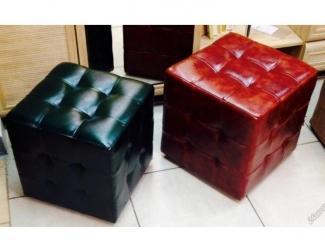 Пуф квадратный с утяжками - Мебельная фабрика «Лион»