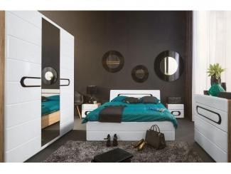 Спальня в стиле минимализм Байрон  - Импортёр мебели «БРВ-Мебель (Black Red White)»