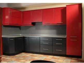 Кухня Камилла красный верх черный низ  - Мебельная фабрика «Мебель Цивилизации»
