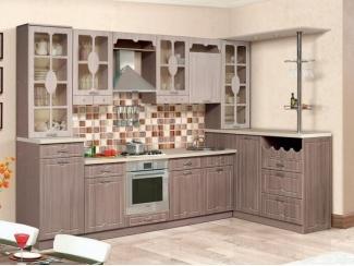 Угловая кухня Бариста с барной стойкой и буфетом - Мебельная фабрика «Аджио»