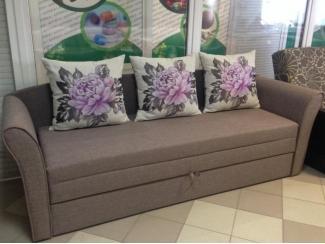 Тканевый прямой диван Арфа 2 с подушками - Мебельная фабрика «Галактика», г. Москва