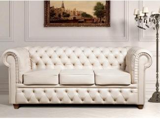 Диван прямой Честерфилд 3 - Мебельная фабрика «Тиолли»
