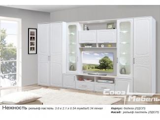 Белая модульная гостиная Нежность - Мебельная фабрика «Союз-мебель»
