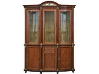 Шкаф с витриной Валенсия 3 П 244.01 - Мебельная фабрика «Пинскдрев»