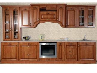 Кухонный гарнитур прямой Сабрина-Ольха