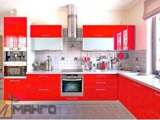 Красный кухонный гарнитур Анжела