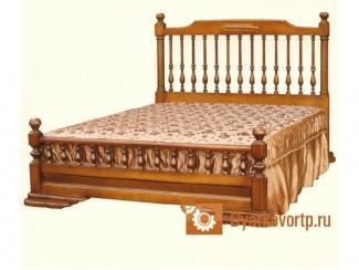 Кровать Екатерина с резным подголовником - Мебельная фабрика «Дятьковское РТП-1»