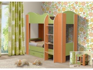 Кровать двухъярусная-2 ПАЛИТРА - Мебельная фабрика «РиАл», г. Волжск