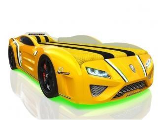 Кровать-машина SportLine жёлтая - Мебельная фабрика «Romack Möbel»