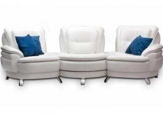 Современный белый диван Венеция  - Мебельная фабрика «Царь Диван», г. Челябинск