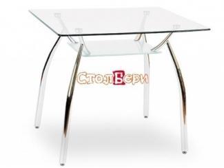 Квадратный стол из стекла Олимп М  - Мебельная фабрика «СтолБери»