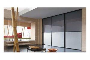 Большой серый шкаф-купе - Мебельная фабрика «Командор»
