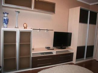 Гостиная стенка со шкафом - купе - Изготовление мебели на заказ «Мега»