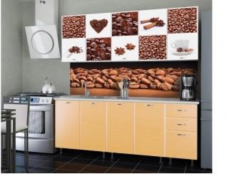 Кухня с фотопечатью Кофе-Ваниль-3 - Мебельная фабрика «СОЮЗ»