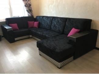 Черный угловой диван - Мебельная фабрика «Лора», г. Нижний Новгород