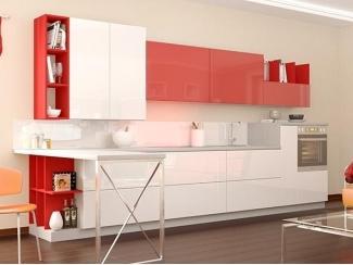 Красно-белая кухня Россо Бьянко small - Мебельная фабрика «Cucina»