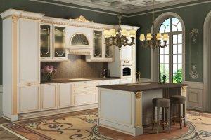 Кухня светлая Эрмитаж - Мебельная фабрика «Гретта-кухни», г. Ульяновск