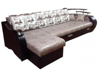 Диван Магнит 3 угловой с полочками - Мебельная фабрика «AzurMebel»