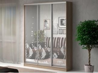 Шкаф-купе АРМАНДО с пескоструйным рисунком на зеркалах - Мебельная фабрика «Баронс»