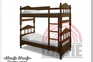Детская двухъярусная кровать Ниф-ниф - Мебельная фабрика «ВМК-Шале»