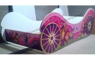 Детская кровать-машина Карета - Мебельная фабрика «Solido-Mebel»