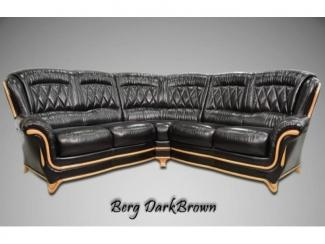 Темно-коричневый угловой диван Диана 7 - Мебельная фабрика «ТРИЭС»
