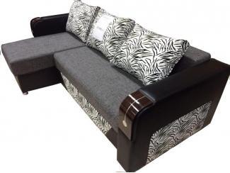 Угловая мягкая мебель в темном цвете - Мебельная фабрика «Ваш стиль»
