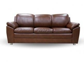 Коричневый диван из экокожи Морфей