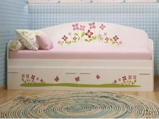 Детская кровать Цветочная полянка пвх