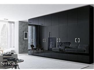 Распашной глянцевый шкаф - Мебельная фабрика «NIKA premium»