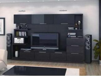 Темная гостиная стенка  - Мебельная фабрика «Мастер Мебель-М»