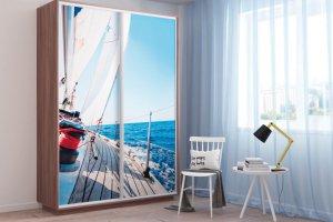 Шкаф AL Стандарт двери УФ-печать на стекле - Мебельная фабрика «Ваша мебель»