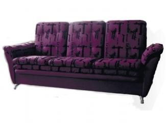 Темный прямой диван в комнату Финка  - Мебельная фабрика «Вега»