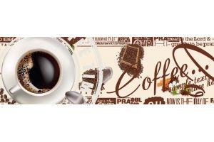 Фартук АВС ( фотопечать) Кофе 378 - Оптовый поставщик комплектующих «Центр изделий ПВХ»