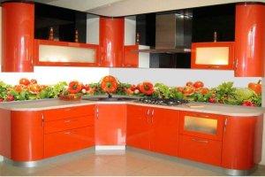 Фартук кухонный стеклянный 017 - Оптовый поставщик комплектующих «Премиум Стекло»