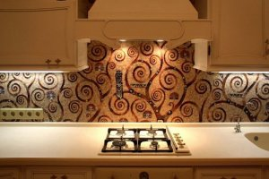 Фартук кухонный стеклянный 018 - Оптовый поставщик комплектующих «Премиум Стекло»