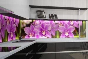 Фартук с фотопечатью Цветы 2 - Оптовый поставщик комплектующих «Дом стекольных технологий (ДСТ)»