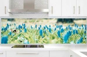 Фартук с фотопечатью Цветы - Оптовый поставщик комплектующих «Дом стекольных технологий (ДСТ)»