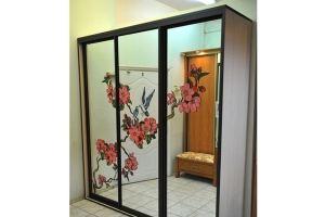 Двери для шкафа-купе с витражом - Оптовый поставщик комплектующих «Купе Центр»