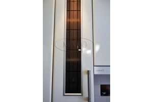 Фасад МДФ со стеклом в алюминиевом профиле - Оптовый поставщик комплектующих «Мако»