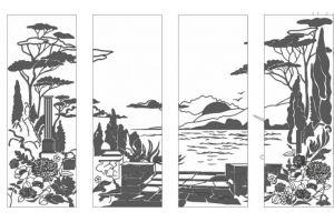 Фасад с пескоструйным рисунком 34-9/10/11/12 - Оптовый поставщик комплектующих «Doksal-Ижевск»
