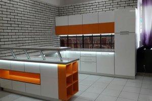 Кухня Фасад UV-лак белый скандинавский - Мебельная фабрика «Мебелькомплект»