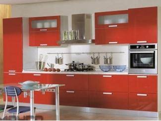 Красная прямая кухня Кристина - Мебельная фабрика «Манго»