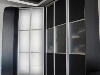 Черно-белый шкаф-купе  Черная лаванда  - Мебельная фабрика «Анкор»