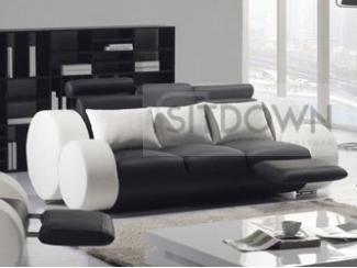 Современный кожаный диван Фиеста - Мебельная фабрика «Sitdown»